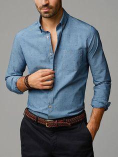 STRIPED DENIM SHIRT - Slim Fit - Casual shirts - MEN - United States