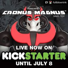 #Repost @fullblownink with @repostapp  2 weeks left and I have a LOOOONG way to go. Come on! Prove to me lightning can strike twice. Vulkira successfully funded back in '14. He needs an arch enemy. Plus Cronus Magnus is a million times cooler! PLEASE back this project. ANY amount helps. There are tons of cool rewards. Link to campaign is in my profile. #toylife #postoftheday #love #kickstarter #designervinyl #toy #toylife #manchild #independentart #shogunwarriors #jumbomachinders #retro…
