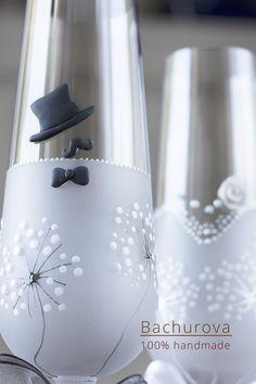 Svatební skleničky / Zboží prodejce ArtBach | Fler.cz Water Bottle, Home Decor, Decoration Home, Room Decor, Water Bottles, Home Interior Design, Home Decoration, Interior Design