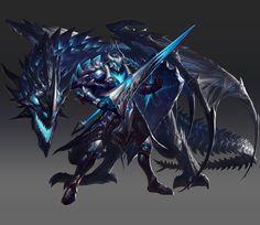 ArtStation - 英魂之刃Calibur of Spirit-龙骑士, SHAN shan