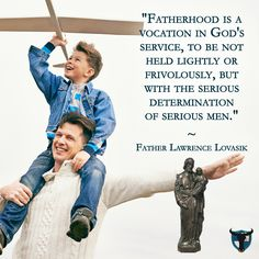 How can everyday dads be like St. Joseph? Don't rack up unused vacation time as if the tally were a badge of honor. It's not about TAKING the time we deserve from the company, but GIVING the time our families deserve from us.  Time to be sure we know what's going on in the lives of our wives and children. Work is a privilege, but kids should know it's a privilege because it allows Dad to take care of the family and play a role in making God's world run.