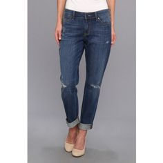CJ by Cookie Johnson Glory Slim Boyfriend in Grand Avenue Women's... ($85) ❤ liked on Polyvore featuring jeans, blue, ripped boyfriend jeans, cropped jeans, slim tapered jeans, distressed boyfriend jeans and relaxed fit boyfriend jeans