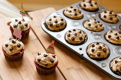Chocolate Chip Cookie Dough Cupcakes and Cookie Dough Frosting