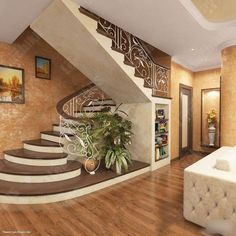 Pin For Trend Presented Best Hallway Interior Staircase Ideas That You Must Love - House Design & Mortgage Ideas 2019 (Mortgage Tips & Insurance Ideas) Staircase Railing Design, Interior Staircase, Home Stairs Design, Modern Staircase, Home Room Design, Home Interior Design, Stair Design, Staircase Ideas, Modern Interior