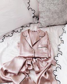 coolchicstylepensiero: bed + pink + silk + pyjamas - cool chic style fashion