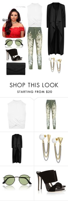 """""""Untitled #112"""" by miiirrra ❤ liked on Polyvore featuring Topshop, Amen, Boohoo, ABS by Allen Schwartz, Ray-Ban and LULUS"""