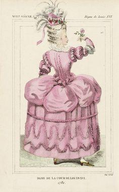 Costume Plate (Dame de la cour de Louis XVI) | LACMA Collections