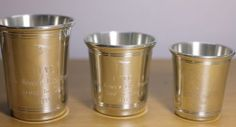 Southern Colonial Pewter Cups, Historic Carolina Cup Collection, Trophy Cups