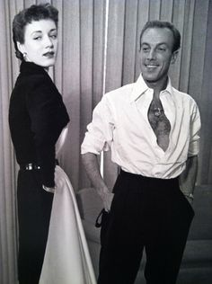 Jacques Fath with model (1951)