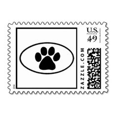 Paw Print Postage Stamps Cat and Dog. Wanna make each letter a special delivery? Try to customize this great stamp template and put a personal touch on the envelope. Just click the image to get started!