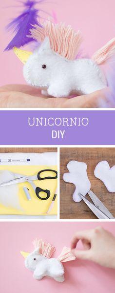 Tutorial DIY: C�mo coser un unicornio de fieltro - Costura y manualidades en DaWanda.es