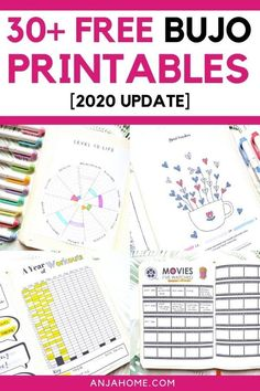 Here you can find the ultimate list of over 30 free bullet journal printables for 2020 Discover the best bujo templates like future log, mood tracker, habit tracker, budget templates and many others Future Log Bullet Journal, Bullet Journal Tracker, Bullet Journal How To Start A, Bullet Journal Notebook, Bullet Journals, Bullet Journal Layout Templates, Bullet Journal Printables, Templates Printable Free, Budget Templates