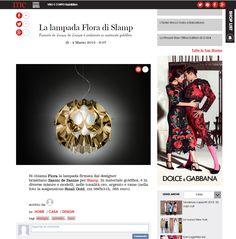 Flora by Zanini de Zanine - Gold - Slamp - Suspension Lamp on MarieClaire