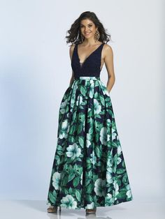 Shop for Dave and Johnny designer prom dresses at PromGirl. Short prom dresses, long formal gowns and Dave and Johnny homecoming party dresses. Navy Blue Floral Dress, Floral Prom Dresses, Designer Prom Dresses, A Line Prom Dresses, Designer Gowns, Dresses For Work, Bridesmaid Dresses, Floral Print Gowns, Printed Gowns