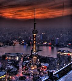 Oriental Pearl, Shanghai, China   - Explore the World with Travel Nerd Nici, one Country at a Time. http://TravelNerdNici.com