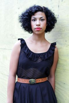 Musician Monica Martin from the band Phox gave this adorable American Apparel dress an edgier look with a rad vintage belt.