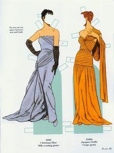 French Fashion Designers 1900-1950 Paper Dolls (Tom Tierney) - Yakira Chandrani - Picasa Web Albums