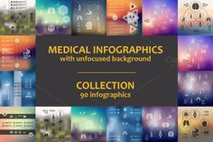 90 MEDICAL INFOGRAPHICS. Collection by Palau on Creative Market