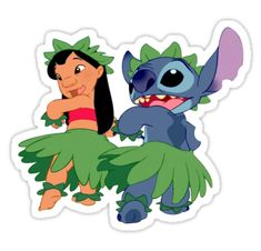 """Lilo and Stitch Hula Sticker"" Stickers by abigaudet Lilo And Stitch Drawings, Lilo And Stitch Tattoo, Lilo Y Stitch, Cute Stitch, Stitch Cartoon, Stickers Cool, Bubble Stickers, Printable Stickers, Aesthetic Stickers"