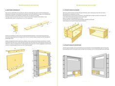 Werktekening bouwtekening TV meubel Antonio