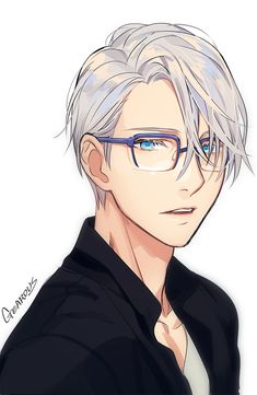 @GEAROUS Support this amazing artist here: http://touch.pixiv.net/member.php?id=658632 victor nikiforov viktor / yoi / yuri on ice anime boy hot russian