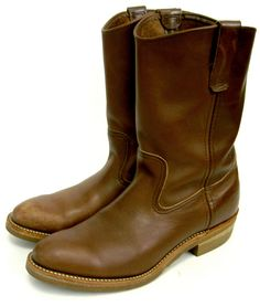 Red Wings Engineer Boots w/perfect wear ...