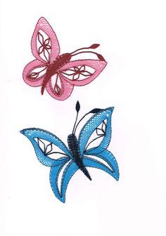 Motýlek+růžový, - paličkovaná krajka, bobbin lace, autor: Lenka Maslova Spetlova, Hostinné, Atelier ROS ZEFYRA s.r.o.