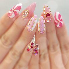 Soft Nails, Pink Nails, Cute Nails, Pretty Nails, Kawaii Nail Art, Glitter Nail Art, Beautiful Nail Art, Nail Inspo, Nails Inspiration