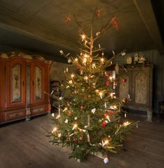 Christmas tree from southern Denmark Sønderjylland, last part of 1800s. Cookies were used as decoration and given as gifts on Christmas eve.