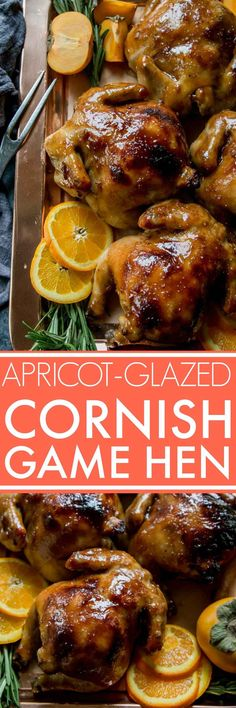 These Apricot Glazed Cornish Game Hens are perfect for your holiday dinner table! via @platingspairing