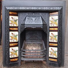 victorian-tiled-fireplace.jpg (900×900)