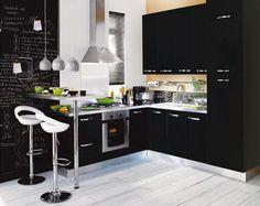 Cocina decorada en negro... Para valorar...