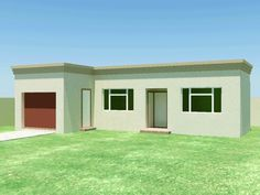 South African House Plans For Sale Flat Roof House Designs, House Floor Design, Small House Design, Round House Plans, House Plans For Sale, Facade House, House Roof, Bungalow Haus Design, Bungalow Floor Plans
