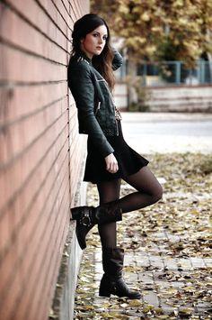 Adapta la tendencia goth a tu vestuario de invierno.