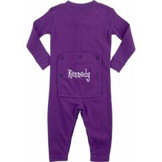 Personalized Infant Name Long John, Purple, Infant Unisex, Size: 3 Months