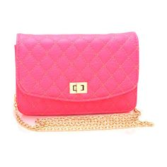 neon quilted clutch ($26) ❤ liked on Polyvore