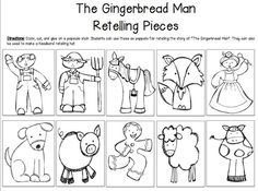 Gingerbread man retelling prompts
