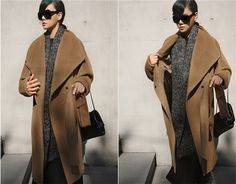 Women Elegant Coat Fashion Long Overcoat With Sashes Ladies Turn-Down Collar casaco feminine Spring Autumn Winter Coat