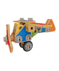 German made wooden building set with 62 pieces that can morph into endless ideas. #Montessori toys, educational toys. $40 off retail.