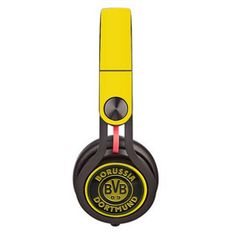 Borussia dortmund Skin decal for Monster Beats Mixr by Dr. Dre headphones - Decal Design