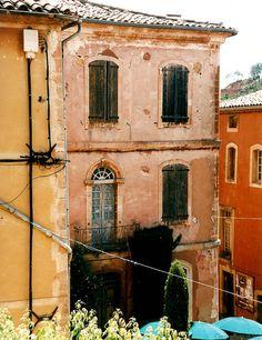 Place de la Mairie ~ Roussillon 2003 by curry15, via Flickr Provence-Alpes-Cote d'Azur, FR
