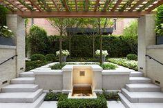 Courtyard landscaping design.
