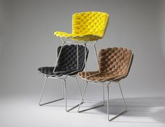 Fans of Harry Bertoia's signature metal gridwork will most likely be enthralled with the Bertoia Loom Chair, a reinterpretation of the classic design by French designer Clément Brazille. Even those wary of the chair's lack of cushioning may be sed. Harry Bertoia, Design Furniture, Chair Design, Home Furniture, Loom Chair, Architecture Design, Take A Seat, Furniture Inspiration, Side Chairs