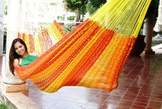 Tequila! That's the name of the color of this thick cord #hammock.