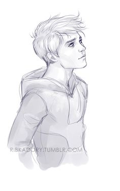 it's doodling cute boys day apparently (: This whole ROTG anniversary kind of inspiring :D Jack asking Man on the Moon why is he here