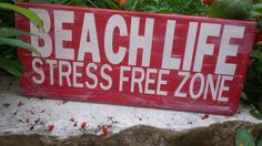 Beach life beach decor. Small Beach life by shopsolelyforyou