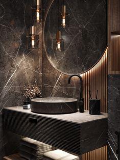Modern Luxury Bathroom, Bathroom Design Luxury, Modern Bathroom Design, Washroom Design, Toilet Design, Home Room Design, Home Interior Design, Bathroom Design Inspiration, Behance