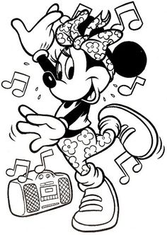 Free Printable Minnie Mouse Coloring Pages For Kids Color This Online Pictures And Sheets A Book Of