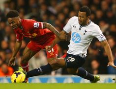 Mousa Dembele challenges Raheem Sterling