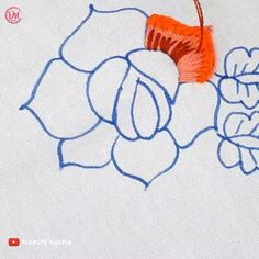 Hand Embroidery Flower Designs, Diy Embroidery Patterns, Hand Embroidery Videos, Embroidery Kits, Cross Stitch Embroidery, Hawaiian Quilts, Thread Art, Brazilian Embroidery, Fabric Painting